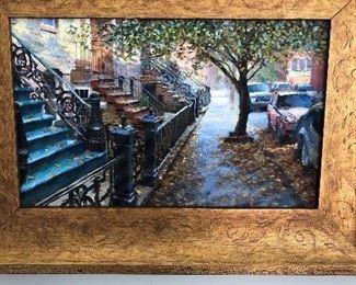 Hoboken original oil on canvas