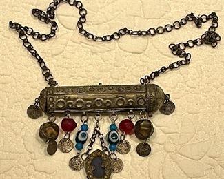 Item 571:  Vintage Bedouin Hirz/Tube Amulet/Pendant: $145