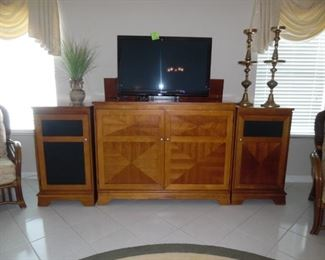 Custom Built TV Console that raises to TV up & down