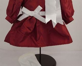 Samantha's cranberry party dress 1986-2008 white tights