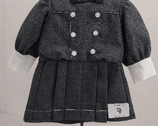 Samantha's Buster Brown Dress School Dress with black ribbon