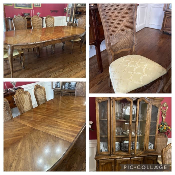 Dining room set  Table and 8 chairs  China cabinet