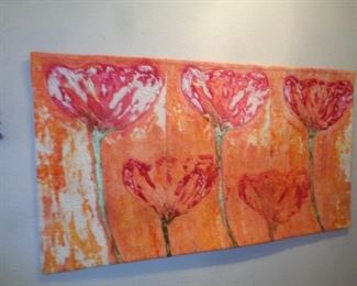 Flowers in an Orange Field 2007 by Juanita G. Yeager