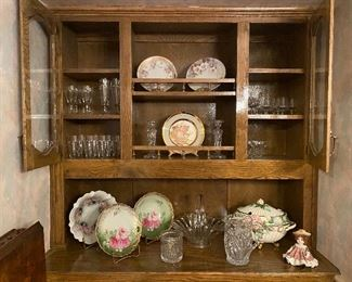 Hand painted China-some antiques from Germany,  glassware & serving pieces.