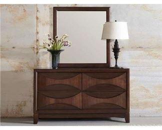 Madden Sculpted 4 Drawer Dresser & Mirror