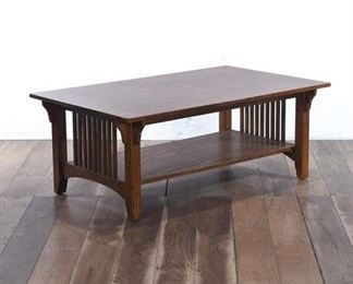 Solid Wood Mission Craftsman Style Coffee Table