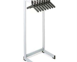 Magnuson 3' Office Coat Rack, Gray, 12 Hangers