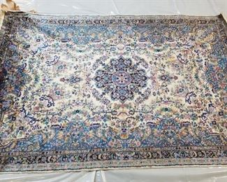 Vintage Handmade Silk Rug - 5x7'.  Professionally cleaned and tested to confirm authentic silk, not imitation.  Very old...could be antique.