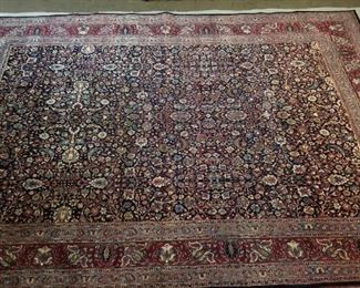 Excellent Rare Antique Persian Tabriz Hand Knotted Rug - 11x17' - appraised for $25,000 in 1993 with paperwork. Professionally cleaned and delivered directly to me for auction .