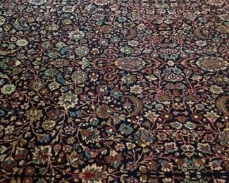 DETAIL - Excellent Rare Antique Persian Tabriz Hand Knotted Rug - 11x17' - appraised for $25,000 in 1993 with paperwork. Professionally cleaned and delivered directly to me for auction .
