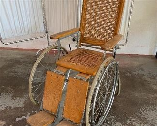 Vintage wheel chair                                                                           Click on the Blue Tab link to Capitol Sales Services Hibid page to register and to place bids on items as presented in the catalog.  https://capitolsalesservices.hibid.com