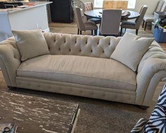 Norwalk sofa, off-white linen (2 available)