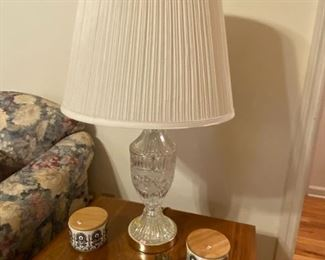 Pair of Crystal Lamps