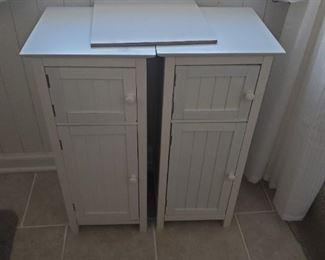 "Three cabinets 27"" H x 12"" X 12"" each"