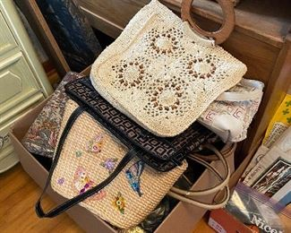 Large Collection of Purses and Handbags