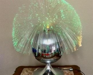 Fiber optic moving lamp from 1970,s