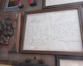 Civil War correspondence