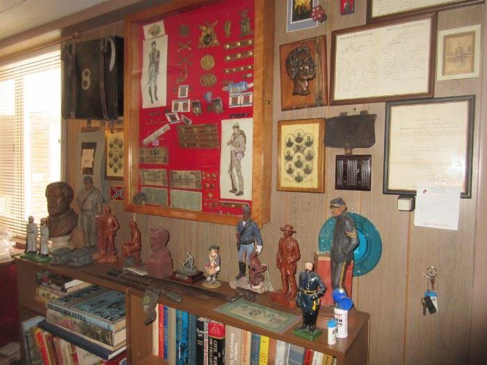 Collection of Civil War memorabilia