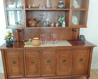 Beautiful Hutch with Mid-Century Style & Flair
