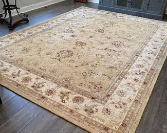 """Lot 5501 $895.00. Nourison Wool 3000  Rug with Genuine Silk Highlights, Golds & Tans; 8'6"""" x 11'6"""". #3004YEL Style.  New Retails for $1900"""