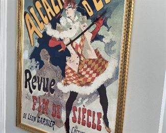 """Lot 5506. $250.00. Quality Framed Poster by Jules Cheret 1890 - Alcazar D'Ete De Leon Garnier"""" 55"""" Tall x 41""""w. Beautifully framed, Massive Piece of Art for a Great Price!"""