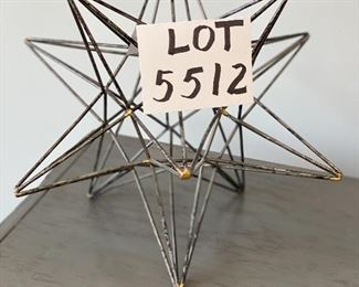 """Lot 5512. $25.00. Sweet Star Sculpture for Decor.  16""""  3-dimensional."""