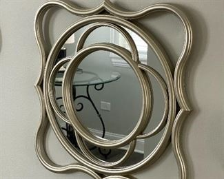 """Lot 5548.   $18.00  Lot of 3 decorative mirrors in metal frames.  Each is 15"""" x 15""""."""