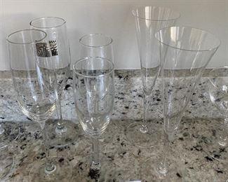 Lot 5525.  $15.00. set of miscellaneous champagne flutes.