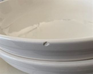 """Lot 5535.  $28.00  2 - Cook's Club 13"""" Pasta Serving bowls. Both are exactly the same but one bowl has a tiny chip on the edge, which you can't tell unless you are looking for it."""
