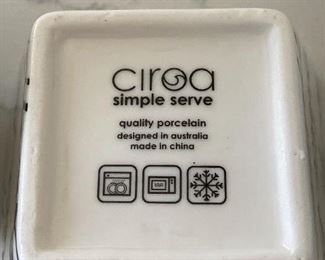 Lot 5538.  $16.00  4 Ciroa Bon Appetit square appetizer bowls.  Functional and so cute.