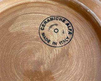 "Lot 5545.  $24.00   Ceramiche Alfa 15"" diam serving bowl.  Made in Italy."