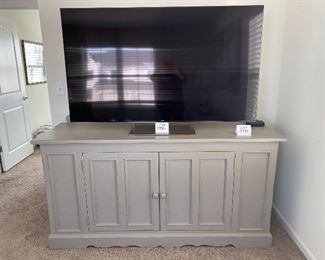 """Lot 5582.  $425.00   Painted Pine credenza with great storage and 2 cabinet doors and 1 drawer.  72"""" L x 23"""" D x 35x5"""" H"""