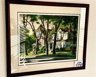 "Lot 5592.   $475.00  Robert William Addison ""Northern Summer"" Original Serigraph, 1981, Artist Proof 7/25. 200 total impressions. Purchased. at. Merrill Chase Galleries, COA on back"