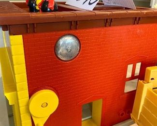 Lot 5570. $35.00. Fisher Price Vintage Firehouse, w/Building, Firemen, Dog, Plus Mini Bus with Teachers & Students.  Vintage Husky Helper 1979, With Horse and cowboy and Truck Everything is in good shape but neither are complete!