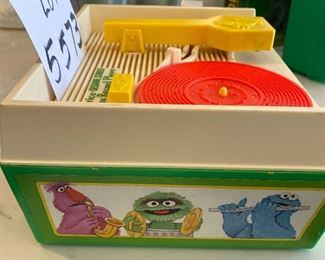Lot 5573. $35.00. Fisher Price Sesame Street Music Box Record Player w./four records; works!  1984.