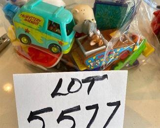 Lot 5577. $26.00. Burger King, ET, Tom & Jerry, Big Bird, Miss Piggy, Rug Rats, Grimace, Grimace in car, Rafiki, Pumba, Simba