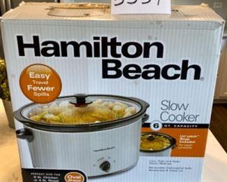 Lot 5559. $35.00. Hamilton Beach #33167 Crock Pot/Slow Cooker - Very Lightly used in Original Box