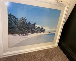 Lot 5610. $48.00.  I, Want. to. Be. There.  Beautiful Beach Scene Framed Print!