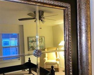 "Lot 5607  $325.00  Rashella Collection, Lighting, California - Gorgeous Floor Mirror 41x74"" tall. Sensational, Bevelled with decor,"