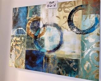 """Lot 5612. $40.00. Print on Canvas,  31.5 x 24"""".  Colors are vibrant and this adds some pizazz to an area that needs some pizazz!"""