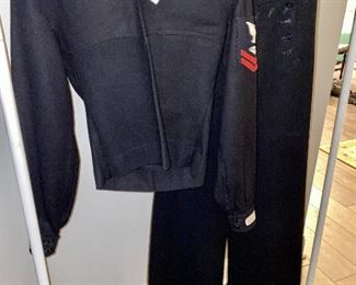 Lot 5618. $50.00.  This, believe it or not, was our homeowner's WW2 era US Navy Uniform.  It is quite small but would make a great kid's Halloween costume.   If I had to guess the size it would be an XS adult, maybe a size 5 ladies.  Nice piece of history!