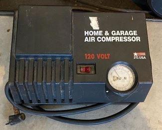 Lot 5626  $40.00  Dirt Devil Can Vac 1100 Watt and 9.2 Amp; Home and Garage Air Compressor 120 Watt Model AM125