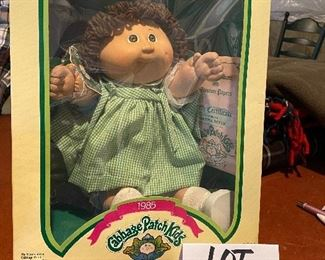 """Lot 5649. $125.00. The Original 1985 Cabbage Patch Doll """"Martina Hettie"""" New in Box with Birth Certificate, Wrist Band, Made By Coleco."""