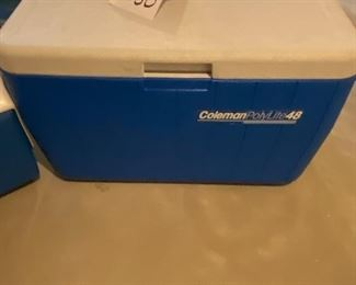 Lot 5650. $35.00. Coleman Polylite 48 Cooler, Plus the Playmate by Igloo cooler too - Nice and clean interiors,