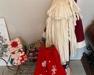 Lot 5658. $50.00. Plush Santa Claus and his Ho-Ho-Ho-Bag of Toys, Sleigh, and Gifts!