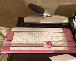 Lot 5673  $28.00 Home Office Kit 1 includes: 1) Wescott Bonded Paper Cutter 2) Swingline 3 Hole Punch 3) Stapler 4) Hand Stapler 5) Index Box