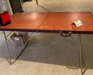 Lot 5642. $30.00. Vintage Folding Table measures 30x60. Heavy Duty!