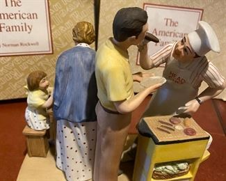 """Lot 5675 $60.00  Norman Rockwell """"Good Food, Good Friends"""" and """"Space Pioneers"""" Figures"""