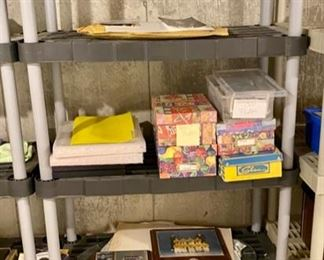 """Lot 5665  $72.00  2 Rubbermaid 5 Shelf Units36"""" W x 18"""" D x 72"""" H (the stuff on them is not included)."""