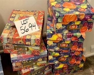 """Lot 5694 $21.00  7 Colorful Storage Boxes11"""" L x 8"""" W"""